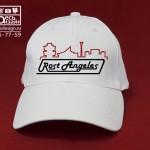 """Бейсболка белая """"Rost Angeles"""" дизайнерская. Студии """"Здесь дизайн"""""""