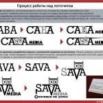 "Процесс создания логотипа ""Сава медиа"""