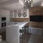 3d визуализация интерьеров гостинной-студии