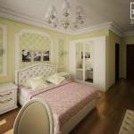 3d визуализация интерьера спальни. Вид 2