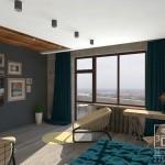 """3d визуализация спальни в стиле loft. Студия """"Здесь дизайн"""""""
